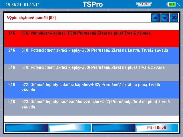 TS Pro Chyby