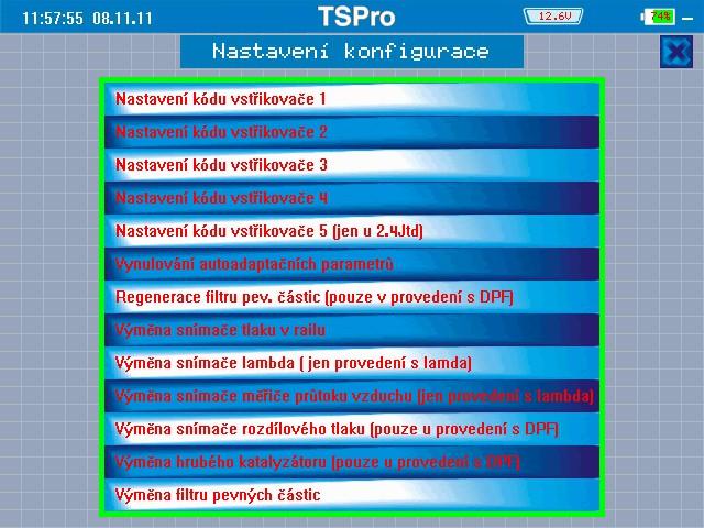 TS Pro Konfigurace